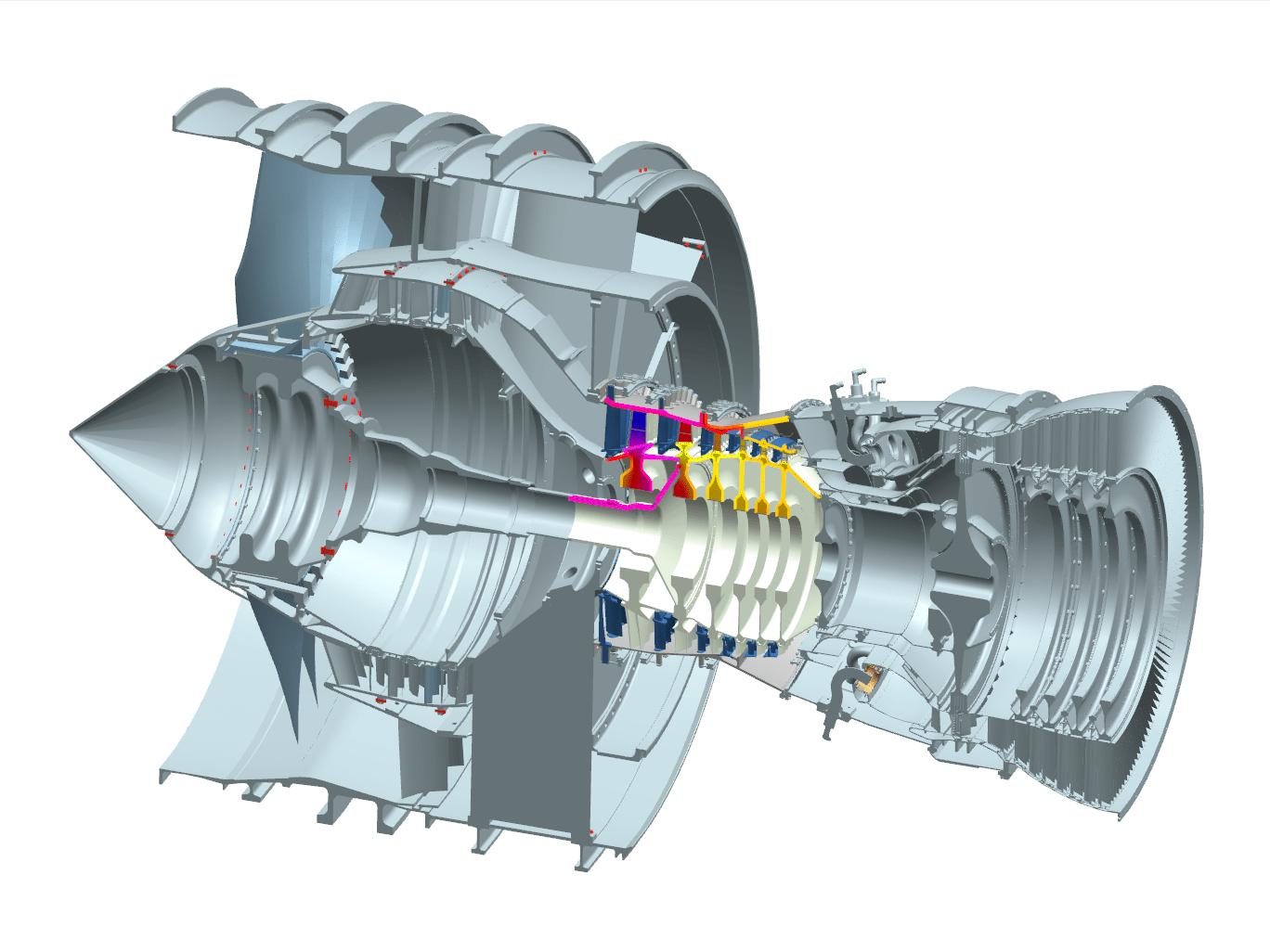 NX CAD Aero Engine